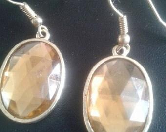 amber coloured earring