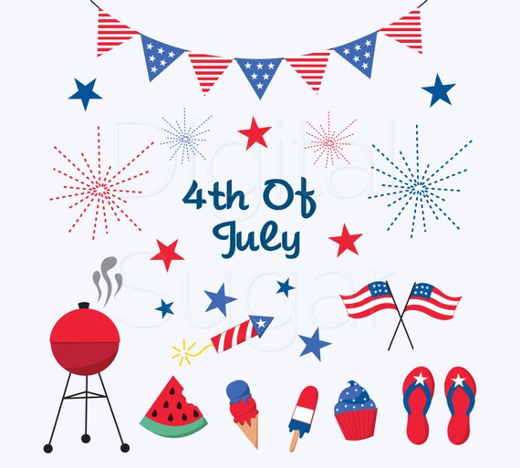 4th Fourth of July Clipart Independence Day Firework Clipart