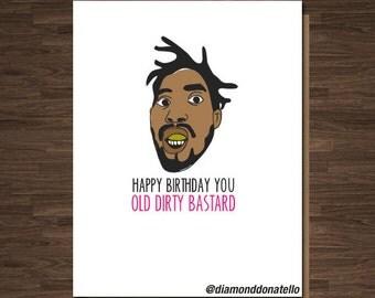 Birthday for Boyfriend, For Him, Card for Girlfriend, Best Card  Birthday, ODB, Wutang, Funny Birthday Card