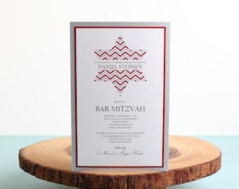 Bar Mitzvah  Invitation - look 4