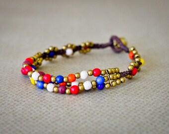 Beaded Bracelet, Friendship Bracelet, Colored Beads, Layered Bracelet, Tribal Bracelets, Handmade Bracelet, Women Bracelet