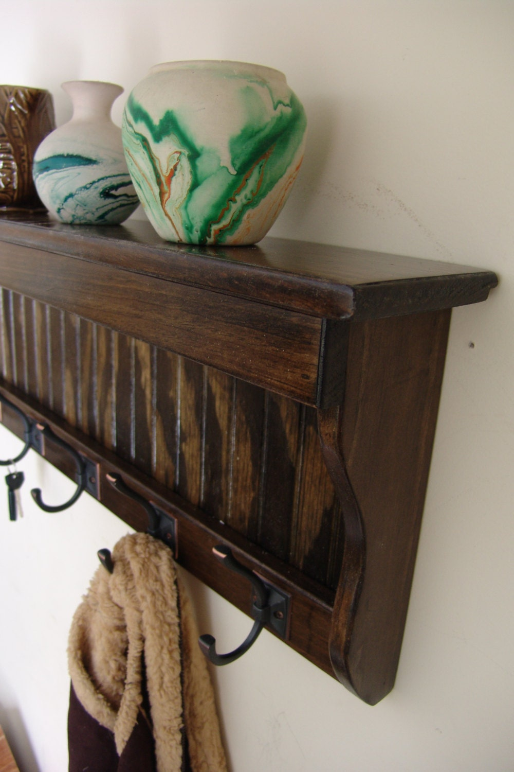 40 Handcrafted Wood Wall Mount Coat Rack By