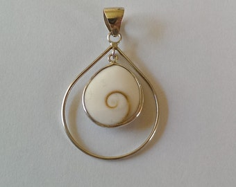 Handmade Sterling 925 silver and shiva eye pendant.