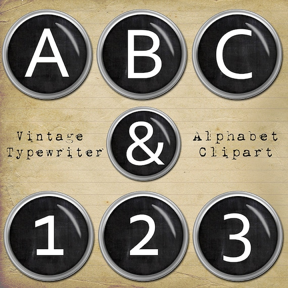 Typewriter Keys Clipart