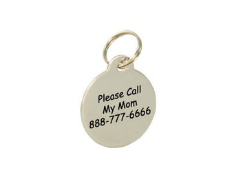 Customized Engraved Stainless Steel Dog Tag Cat Tag Pet ID Name Tag