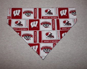 Wisconsin Badgers Dog Bandanna in Small, Medium, & Large