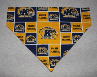Kent State University Golden Flashes Dog Bandanna in Small, Medium, & Large