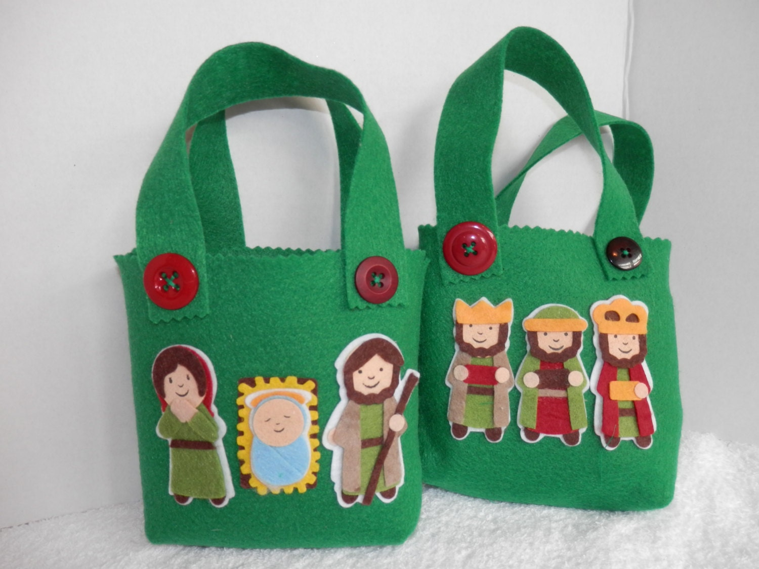 FELT GIFT BAGS Candy Bags Gift Wrapping Christmas Gift