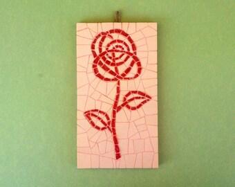 mosaic rose wall art