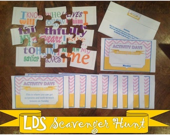 Activity Days Scavenger Hunt -Instant Download