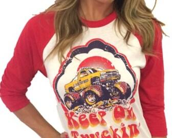 Keep On Truckin 3/4 sleeve tee