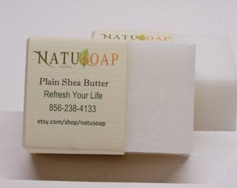 Unscented Soap - Shea Butter, Cocoa Butter, Mango Butter - No Fragrance