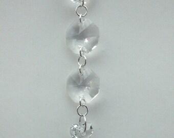 Sterling silver, chandelier prism and Swarovski Crystal necklace