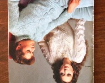 Vintage Bernat Knitting Booklet - Sweaters - 1983