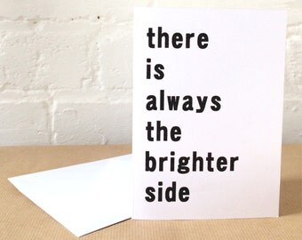 ALTERNATIVE POSITIVE AFFIRMATIONS greetings card A6 Brighter Side