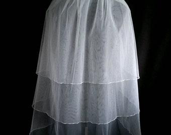 White Wedding Veil, Three Layers