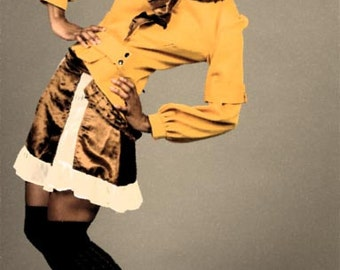 One-of-a-Kind Yellow, Ruffled Jacket
