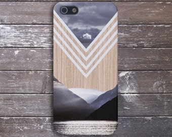 Chevron Lake x Mountains Wood Case for iPhone 6 6 Plus iPhone 7  Samsung Galaxy s8 edge s6 and Note 5  S8 Plus Phone Case, Google Pixel