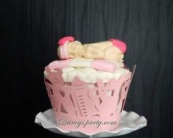 Cupcake Wrappers - Baby Shower Theme
