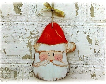 Santa Claus Christmas Ornament Christmas Santa Wooden Christmas decor Tree Decoration Christmas gift