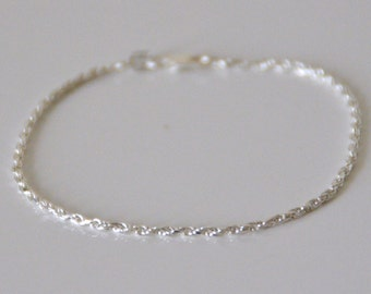 Silver 925/1000, twisted chain BRACELET