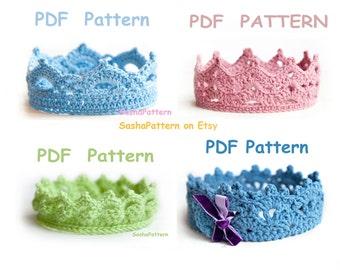 4 crochet Baby Crown Pattern - PROMO price