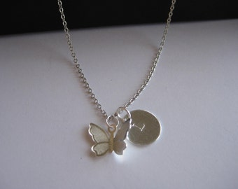 May A Butterfly Take Flight Necklace, infant loss, child loss, baby loss keepsakes, miscarriage, stillborn, child loss jewelry, handmade