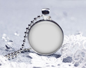 Digital Photo Template for Silver Round Pendant 1 inch Setting with Ball Chain. No graphics tool needed. Ask me How. 546