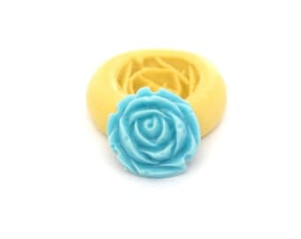 Flower, Rose Mold Mould Resin Clay Fondant Wax Soap Fimo Flexible Silicone Mold