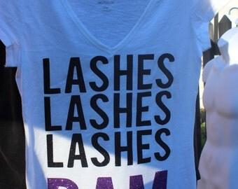 Glitter lashs lashs Lashs bam t-shirt