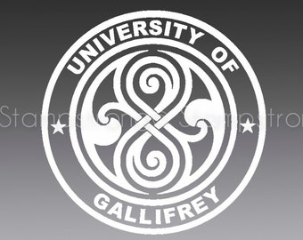 4IN Seal of Rassilon V2 University of Gallifrey Doctor Who Decal Sticker Prydonian Gallifreyian