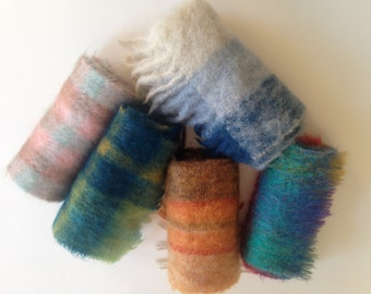 MOHAIR Wool Scarf Bloomindale's, Alexander's, Abraham & Straus, Hilltop Brand