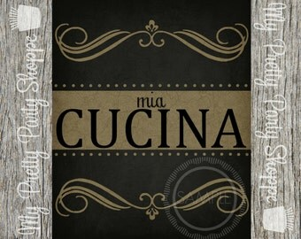 8x10 Printable Mia Cucina Sign / Art / Poster / Kitchen / Print / Chalkboard *INSTANT DOWNLOAD*
