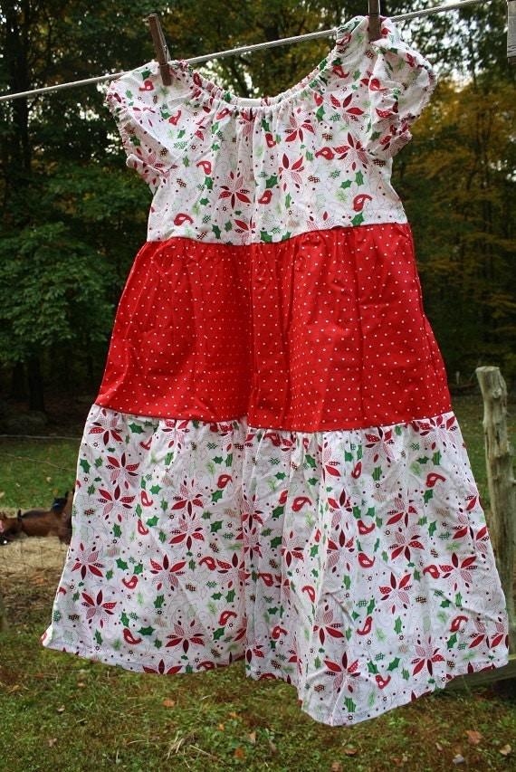 Girls size christmas dress