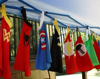 Five Capes Superhero Party Pack