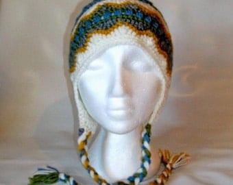 classic style stripe winter crochet hat