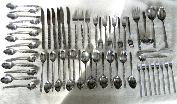 63 Pcs Of Northland Caledonia Pattern Stainless Steel
