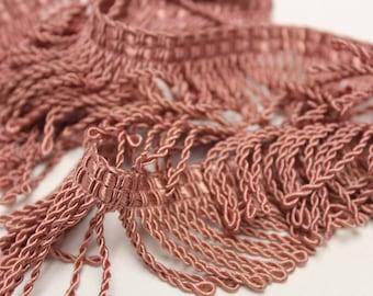 Pink Twisted Rope Fringe - Decorative Trim 811