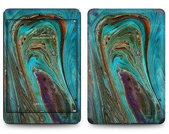 Turquoise Marble Precious Stone Print - Apple iPad Air 2, iPad Air 1, iPad 2, iPad 3, iPad 4, and iPad Mini Decal Skin Cover