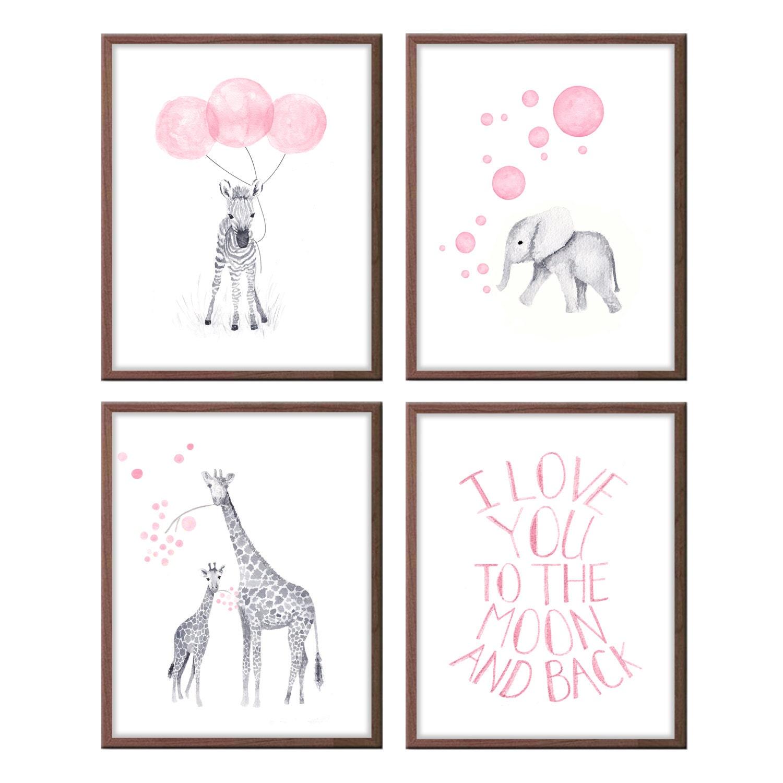 Baby girl nursery decor girls nursery art baby girl gifts for Baby girl nursery paintings