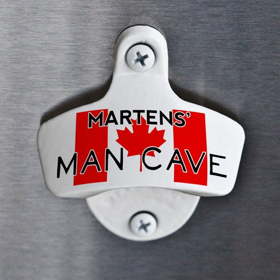 Man Cave Signs Canada : Personalized bottle opener canada man cave gift for canadian
