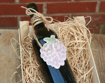 SALE Grapes wine bottle decorations ornament, Party decor, Hanging grapes, Grapes kitchen decor, Jar hanging decorations