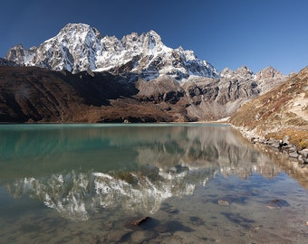 Gokyo lake reflection, Nepal