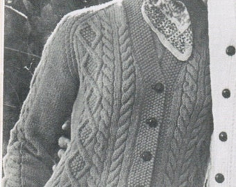 Knitting Patterns Pictures : Popular items for aran knit on Etsy