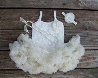 Petti skirt. Baby pettiskirt. Baby tutu dress. Lace petti. Baby girl birthday outfit. Birthday tutu. Cake smash outfit. 2nd birthday outfit