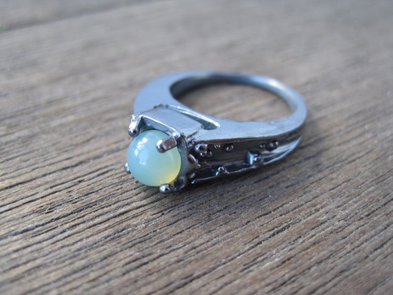 Vintage Inspired Ocean Engagement Ring with Aqua by ...