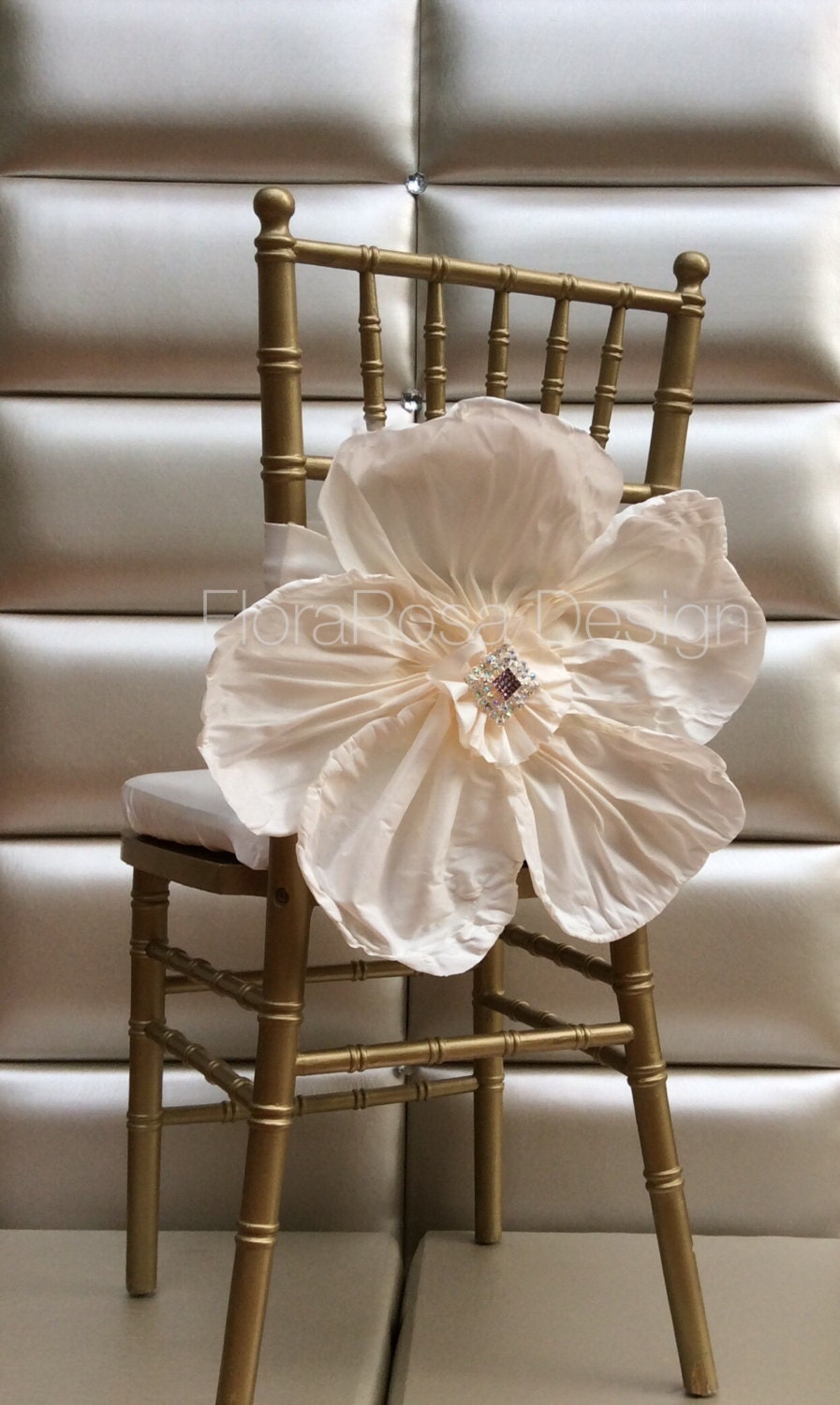 Chair CoversWedding Chair Coverbeautiful Flower By