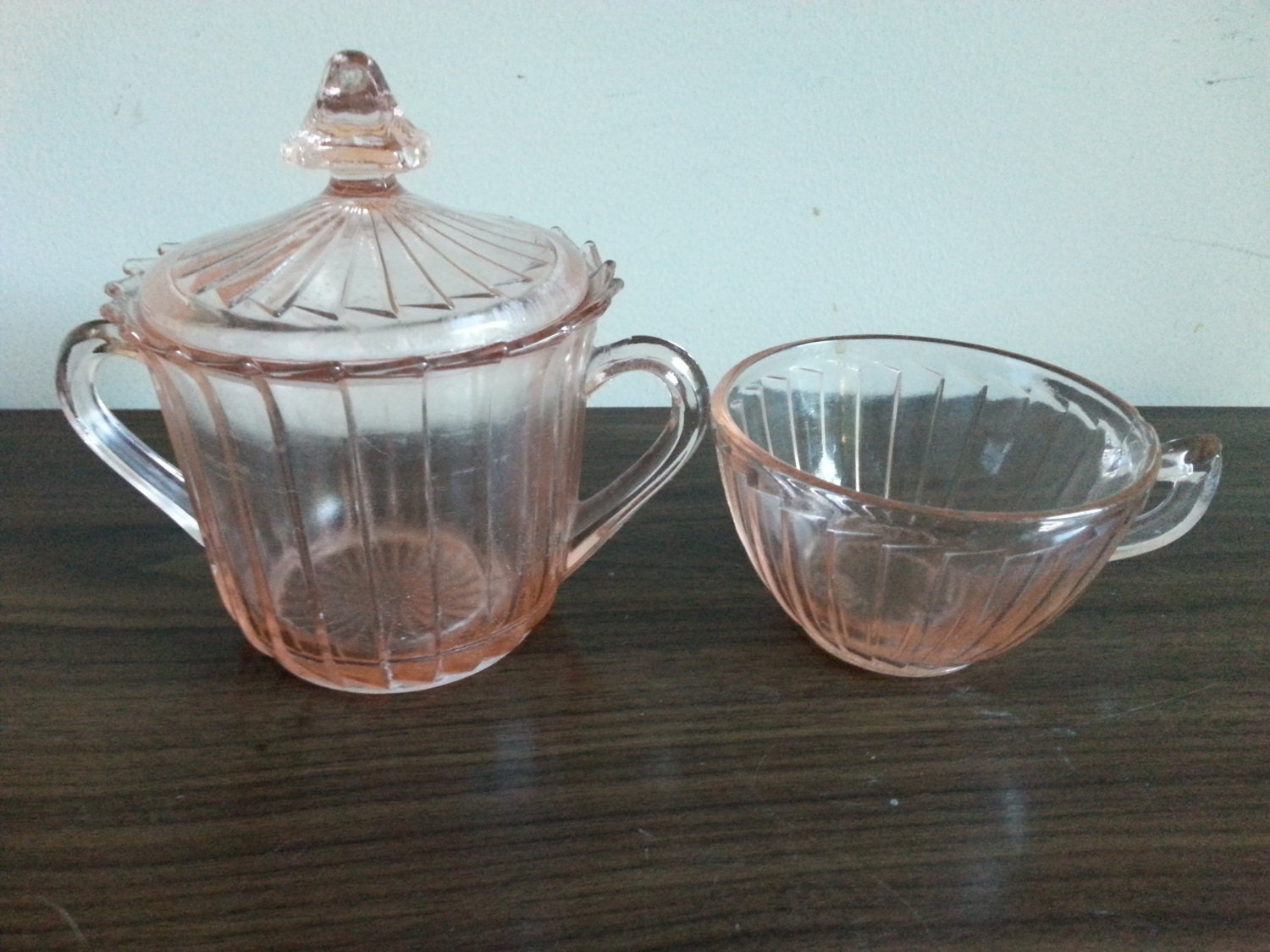 Rare sierra pinwheel pink depression glass by for Most valuable depression glass patterns