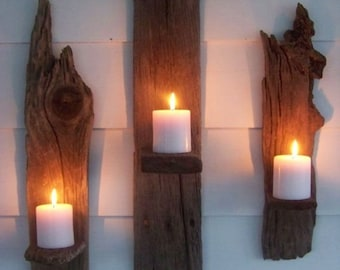 Wall Candle Holders- Set of 3