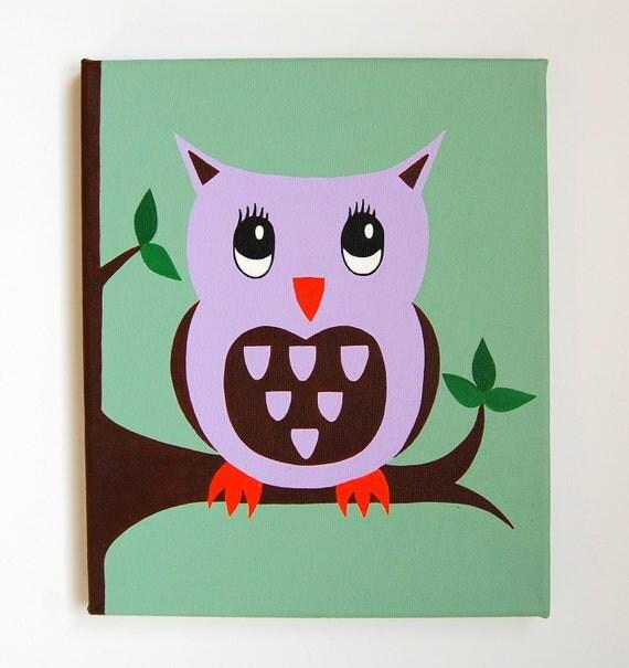 Kunst Im Kinderzimmer | Eule Kinderzimmer Kunst Wald Kinderzimmer Dekor Owl Malerei